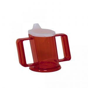 HandyCup met deksel rood